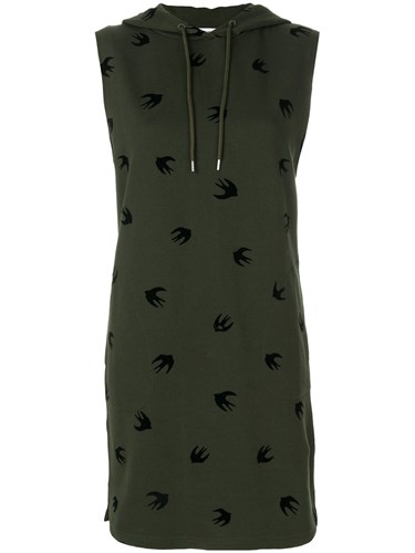 Dress Alexander McQueen by McQ Sweat Swallow Green Hooded wfqZwWAnx