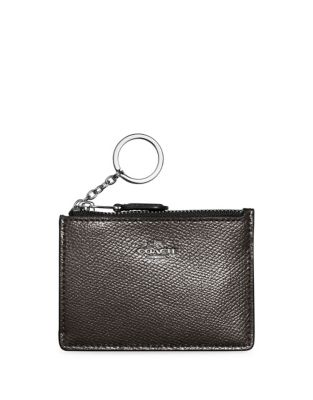 Coach Mini Skinny Leather I.D. Case Platinum dZMVb