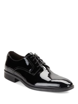 Black Brown Columbus Leather Oxfords Patent gxIo8X