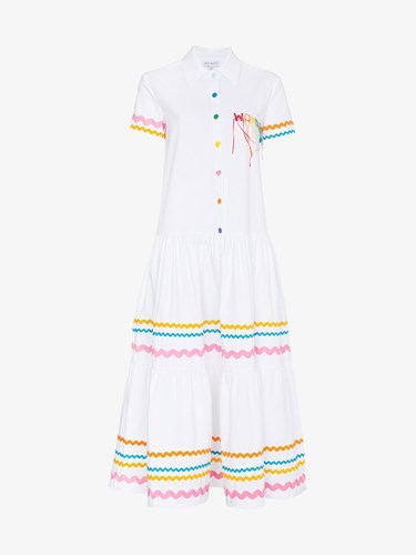Mira Mikati Wonder Wave Ribbon Dress White lWLsp816l
