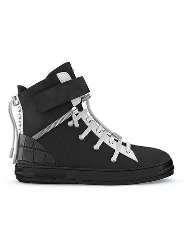 Swear Regent Hi Top Sneakers Calf Leather Crocodile Leather Nappa Leather Rubber Black Zle0Fq3Hf4