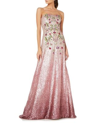 Theia Strapless Ombre Ball Gown Peony Czl5jWXgN
