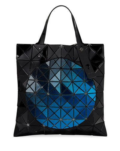 Issey Miyake Mado Metallic Circle Tote Bag Black Blue 2nz7SLVx