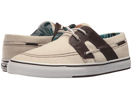 Tommy Bahama Stripe Breaker Natural Brown Lace Up Casual Shoes Tan HpSbz7