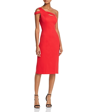 Aidan Aidan One Shoulder Dress Red Fire FSTzKj5XU