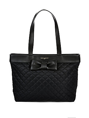 Karl Lagerfeld Quilted Zippered Tote Navy mtiU8J