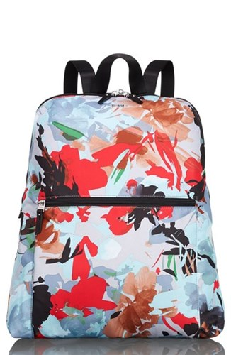 Tumi Just In Case Back Up Tavel Bag Blue Pacific Floral 3LCihw8