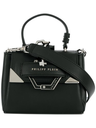 Philipp Plein Small Boxy Tote Calf Leather Polyester Black SDt4ld