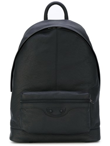 Balenciaga Classic City Backpack Lamb Skin Black NkEBT