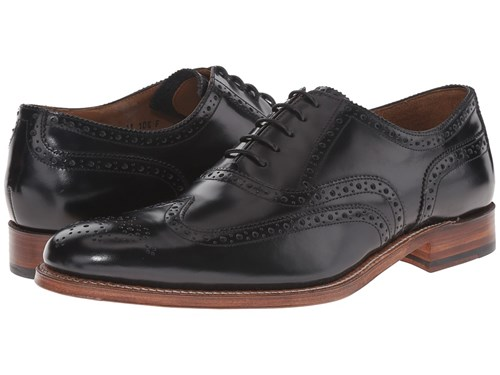 Grenson Dylan Black Rub Off Lace Up Wing Tip Shoes 36RSPxgM6