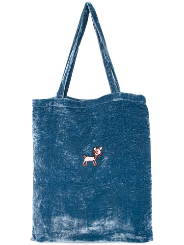 Jupe by Jackie Embroidered Tote Bag Blue LnHV1vU