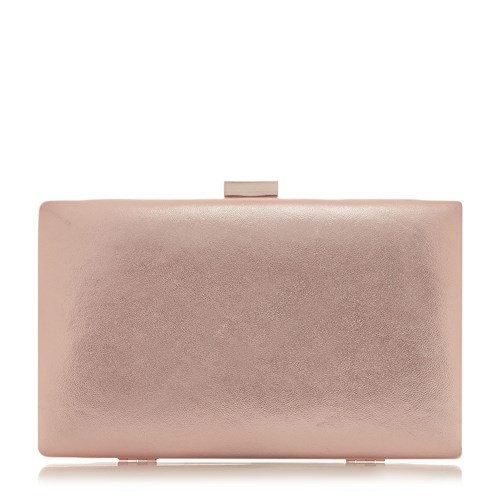 Dune Brocco Gold Trim Clutch Bag Rose Gold xWYjg9liwN