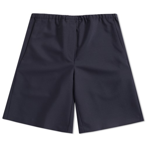 Ari Wool Drawstring Short Blue