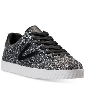 Tretorn Women's Camden 5 Glitter Casual Sneakers From Finish Line Silver Multi Black RYRwyo7xm
