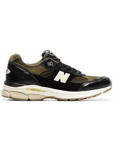 New Balance Black And Green M991.9 Leather Low xNkwHDQ