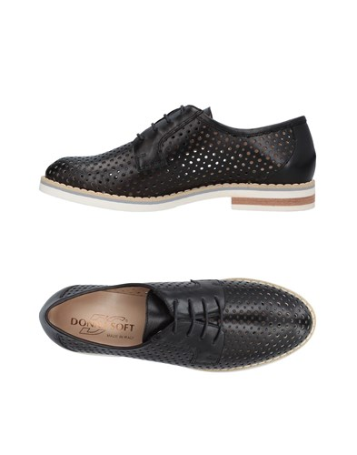 Donna Soft Lace Up Shoes Black nPtqh