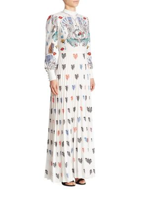 Mary Katrantzou Mizar Card And Heart Print Gown Surreal SEH0Sm6