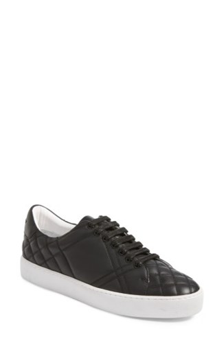 Burberry Women's Check Quilted Leather Sneaker Black iHIW3HGn