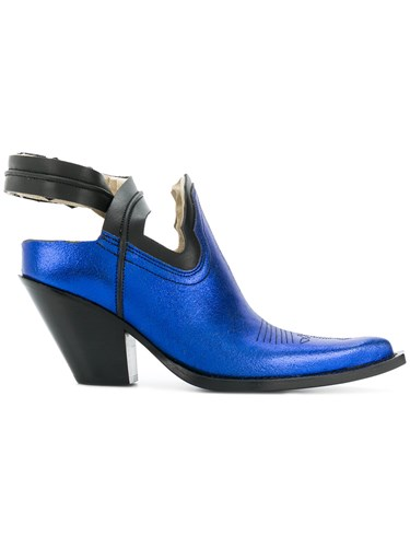 Maison Martin Margiela Pointed Sling Back Pumps Blue qJ3TSExp