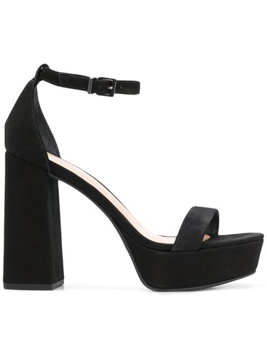 Schutz Platform High Heel Sandals Black XrxL3dog