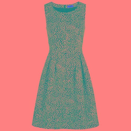 Hugo Kombassa Spot Jacquard Dress Blue MCnRSc