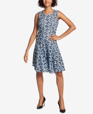 Tommy Hilfiger Lace Fit And Flare Dress Crystal Blue Black 3CB9FFhHgr