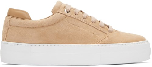 WANT Les Essentiels Pink Suede Lalibela Sneakers T2shwUON0