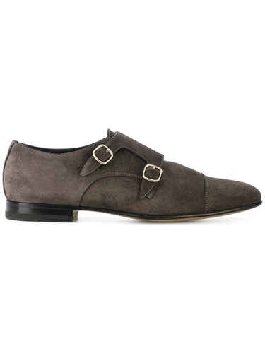 Santoni Classic Monk Shoes Brown UPm4dozGy