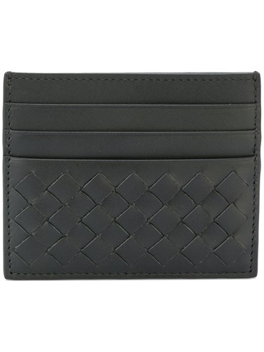 Bottega Veneta Intrecciato Card Holder Green rDBANWC