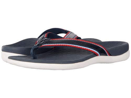 Vionic Tide Sport Navy Patent Leather Women's Sandals 3MzrWAS