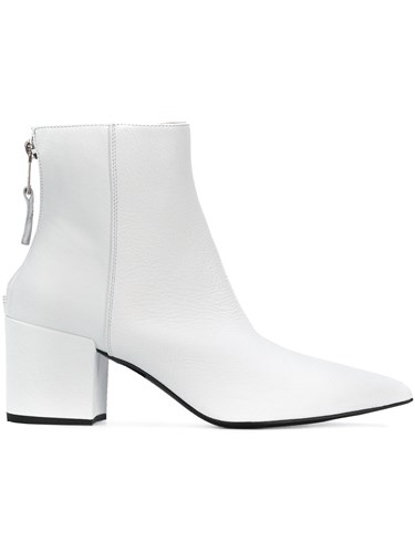 Strategia Pointed Toe Boots White 30Wewc