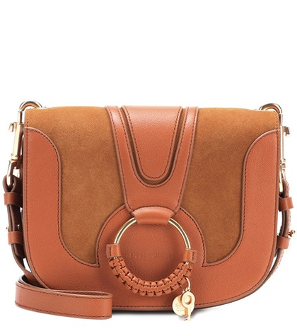 See by Chloe Hana Medium Leather And Suede Shoulder Bag Brown 2p88Toh9