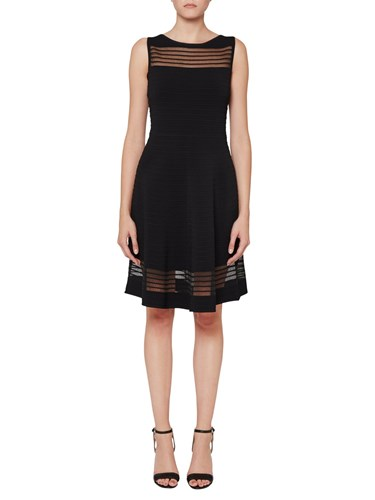 French Connection Tobey Crepe Dress Black SIgTGrQC9