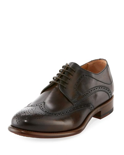 Magnanni Leather Brogue Wing Tip Oxford Blue CNTPjfeJ