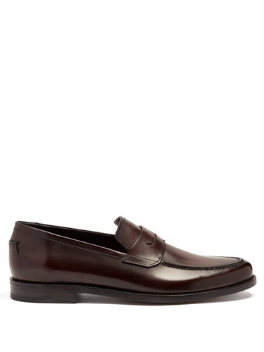 Berluti Andy Demesure Leather Penny Loafers Burgundy AWbEBnFfVb