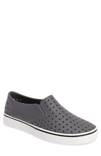 Nordstrom x Native Shoes Miles Water Friendly Perforated Slip On Grey White TqU8btzcfH