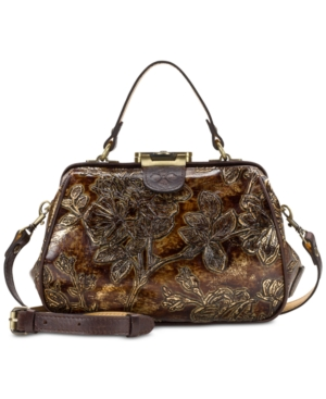 Patricia Nash Gracchi Small Frame Satchel A Macy's Exclusive Style Chocolate Gold kqiNLcCi