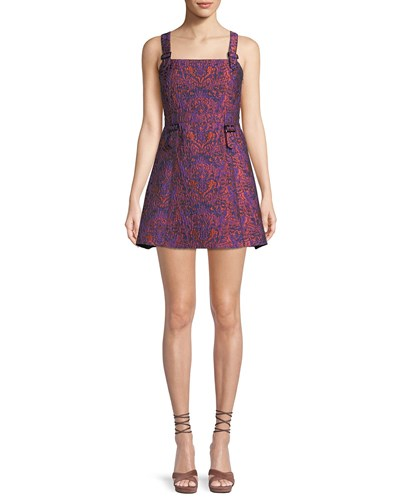 Opening Ceremony William Printed Buckle Mini Dress Purple wYPWY6