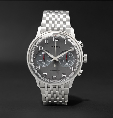 Meister Driver Chronoscope Stainless Steel Watch Silver