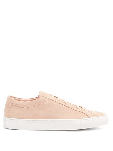 Common Projects Original Achilles Low Top Suede Trainers Pink w8R99k