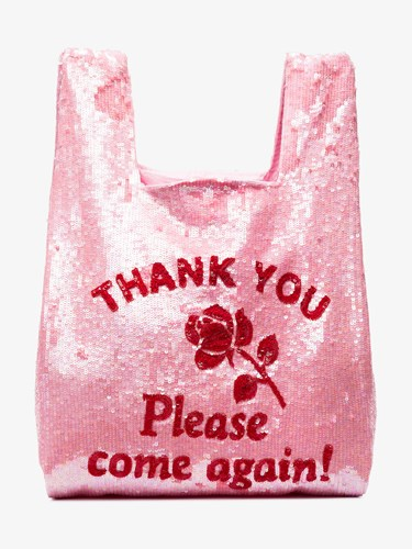 Ashish Thank You Sequin Embellished Tote Pink And Purple NCvzAGFx9