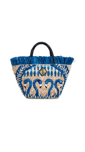 ARANAZ Blue Flamingo Tote Blue Natural D5oIY