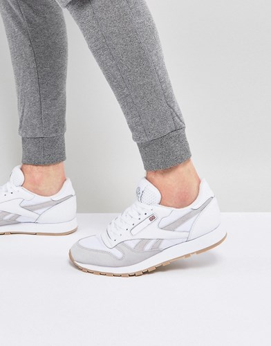 Reebok Classic Leather Essential Trainers In White Bs9718 V0opU