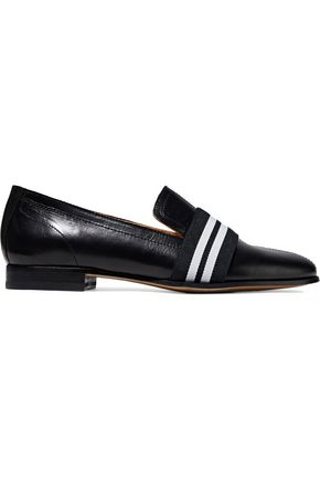 Rag and Bone Grosgrain Trimmed Leather Loafers Black dPZFfZA