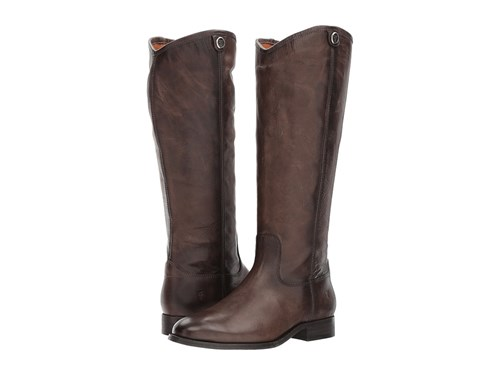 Frye Melissa Button 2 Slate Extended Cowboy Boots Brown Q1IXGK