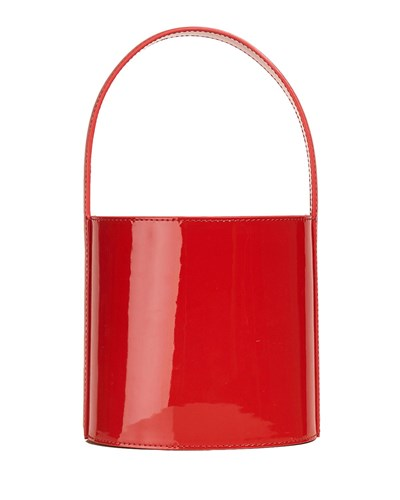 STAUD Bisset Patent Leather Bucket Bag Red ht2MGM