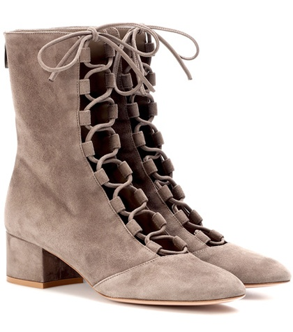 Gianvito Rossi Delia Suede Ankle Boots Beige RwgLDNst