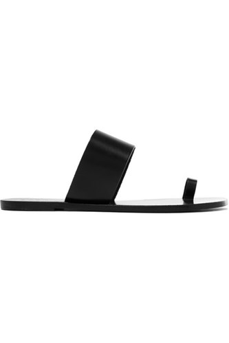 Atp Atelier Astrid Leather Sandals Black LYNRQZ