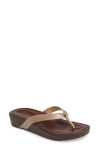 Fop Black Ola Flop OluKai Leather Women's Copper twHSCRq