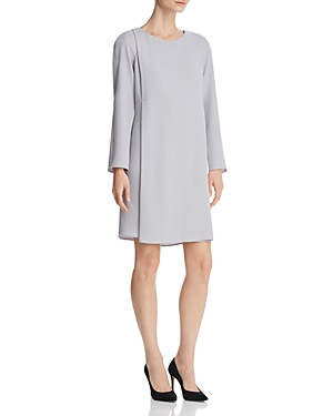Emporio Armani Pleated Shift Dress Light Gray nCsN6UCPxs